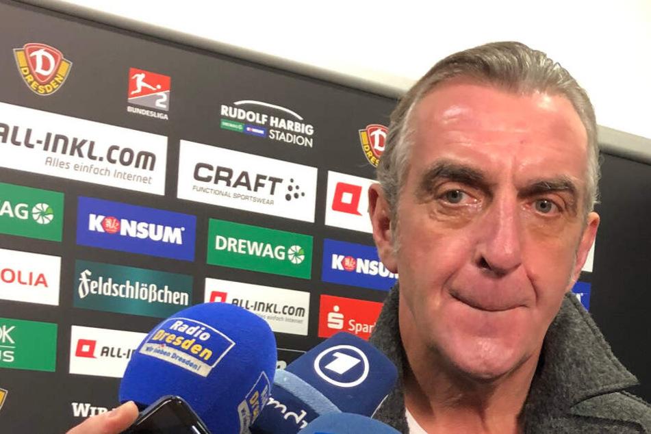 Sportgeschäftsführer Ralf Minge am Dienstag bei der Vorstellung von Heiko Scholz. Er wirkte angeknockt, die letzten Wochen haben Spuren hinterlassen.