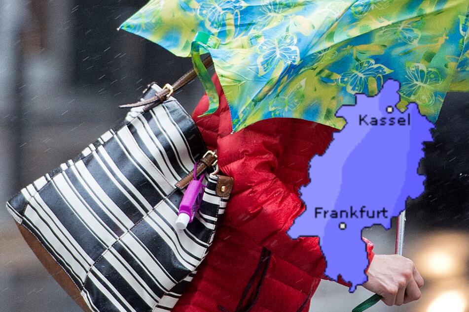 Regen und starke Windböen: Herbst-Wetter hält Einzug in Frankfurt und Hessen