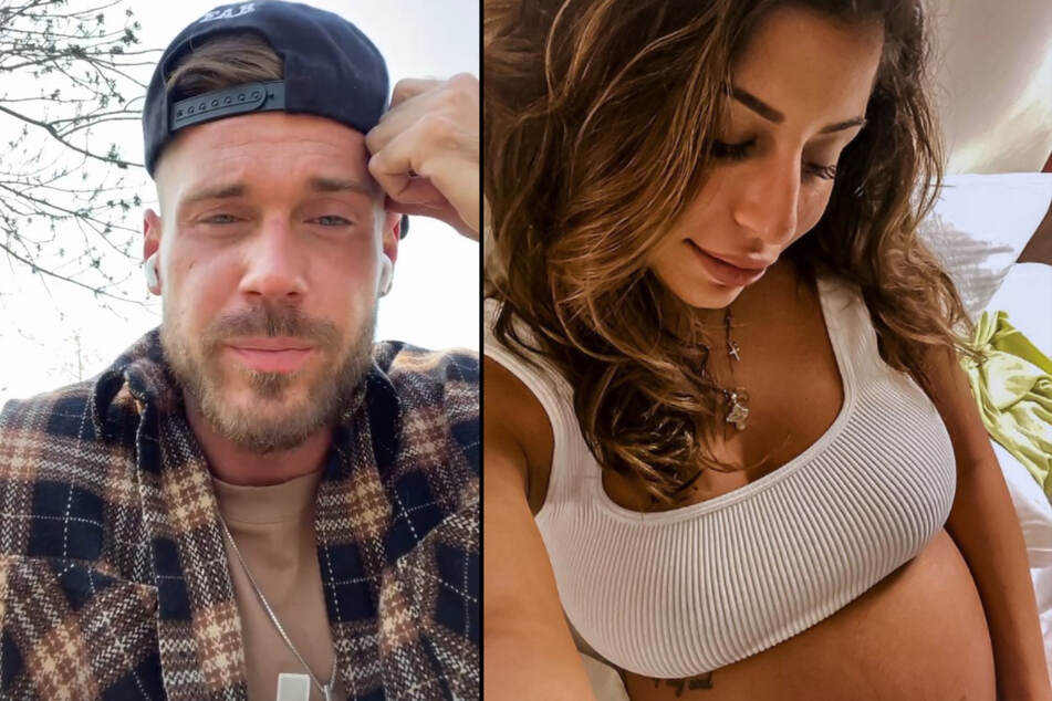 Chris Stenz (31) bestätigt, dass es in der Beziehung mit seiner schwangeren Verlobten Eva Benetatou (29) Probleme gab. (Fotomontage)
