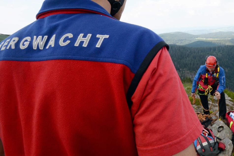Die Bergwacht brachte die in Not geratenen Wanderer in Sicherheit (Symbolbild).