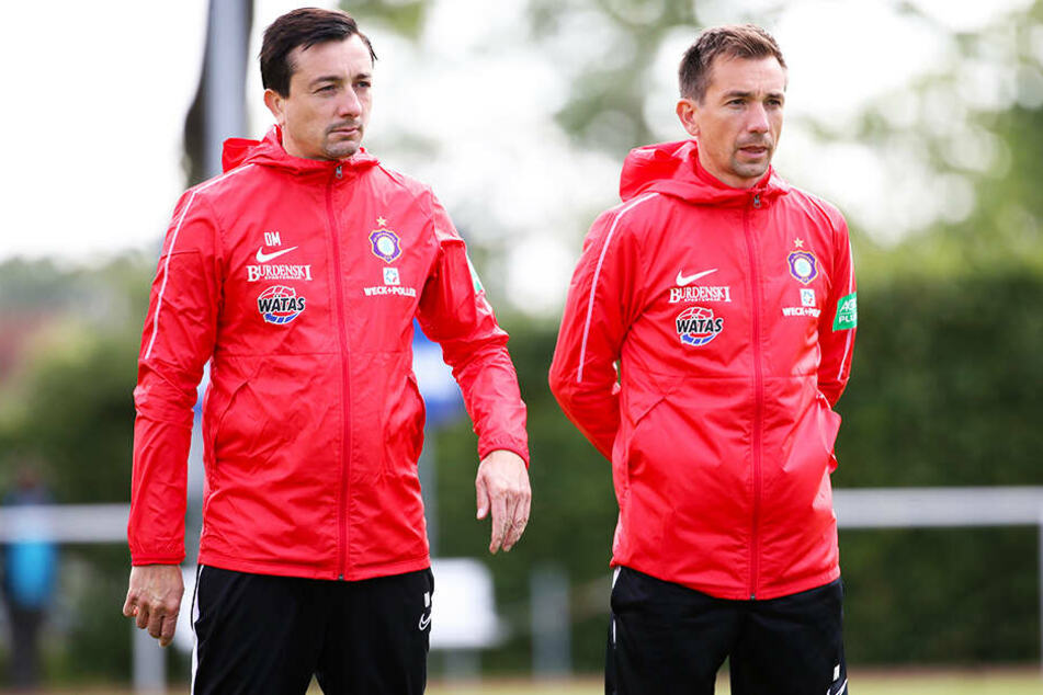 Aus dem Nichts wurden Daniel (l.) und André Meyer vom FC Erzgebirge Aue beurlaubt.