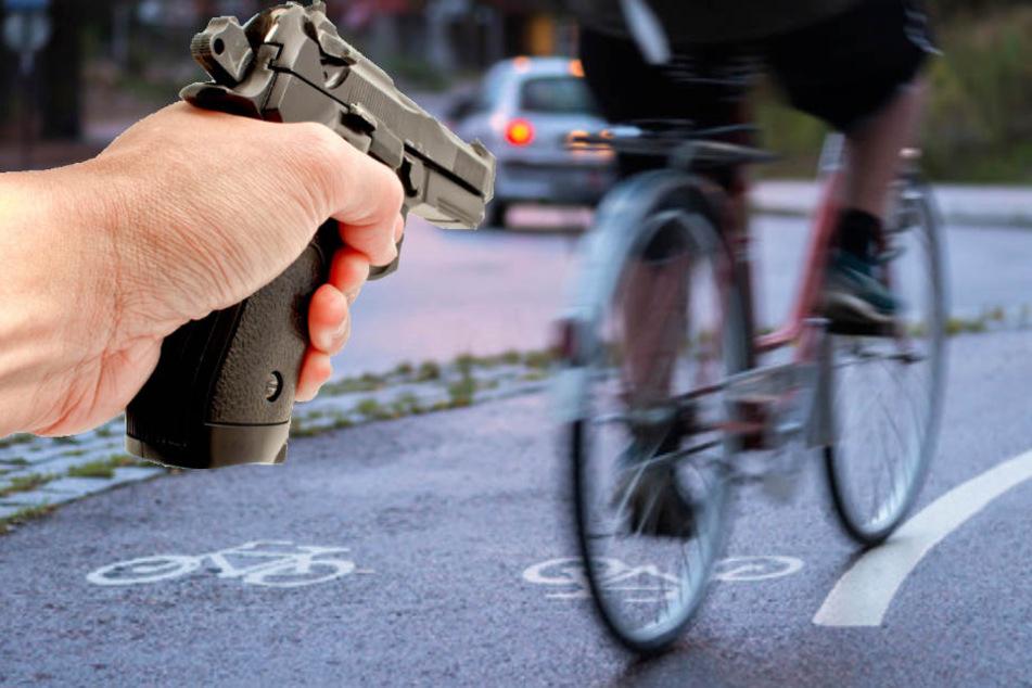 Radfahrer wird verfolgt und beschossen