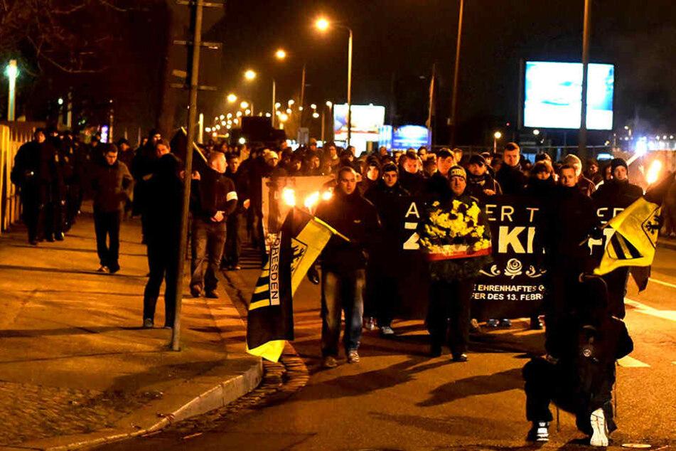 Im vergangenen Jahr organisierten Dresdner Neonazis einen Marsch nach  Nickern.