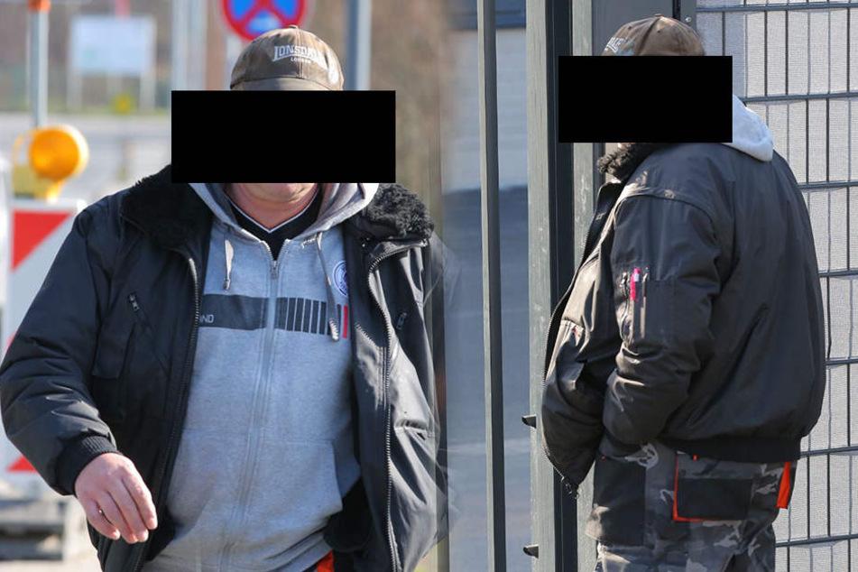 Der Freitaler Stadtrat Dirk A. auf dem Weg ins Gericht.
