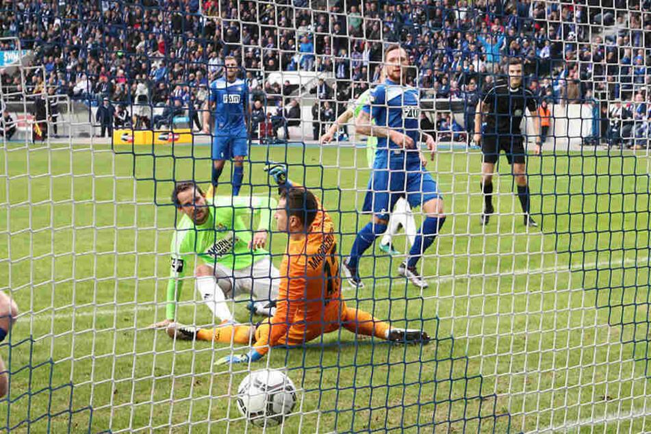 Elf Mal traf Anton Fink in der Hinrunde. Hier beim 4:2 gegen Magdeburg zum zwischenzeitlichen 2:0.