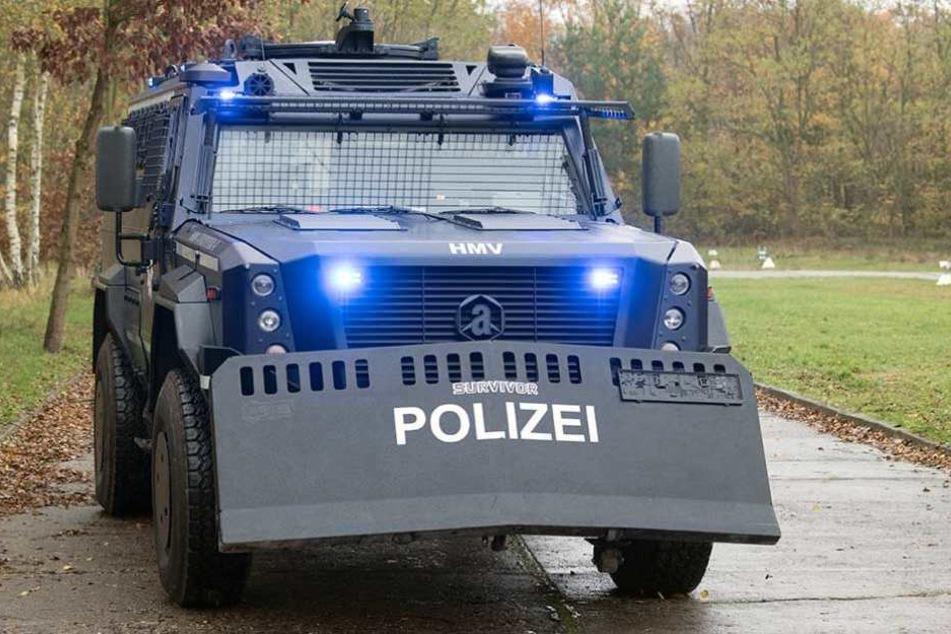 Das neue, gepanzertes Sonderschutzfahrzeug der Brandenburger Polizei.