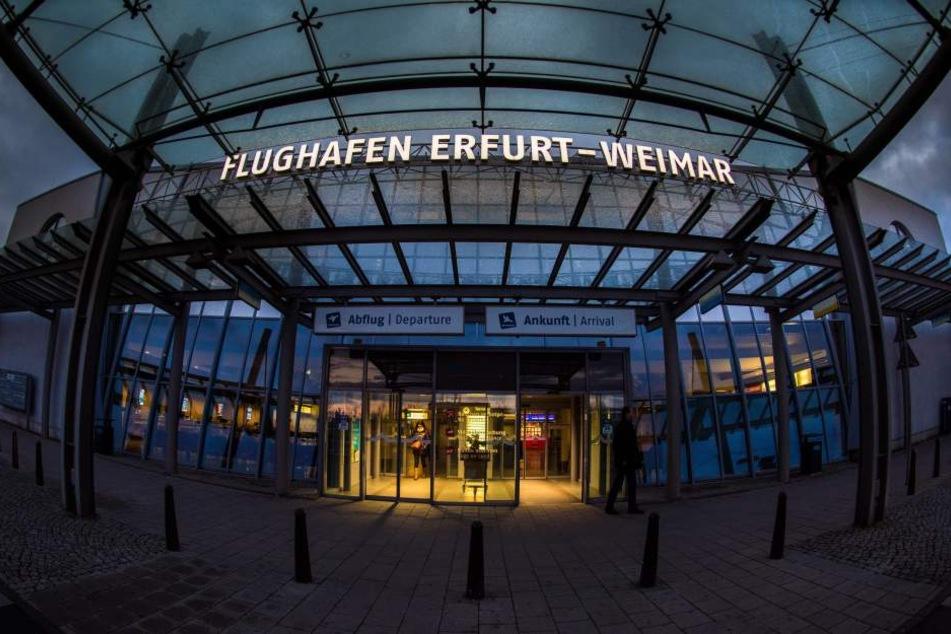 """Den Flughafen Erfurt-Weimar fliegt nun auch """"Fly Egypt"""" an."""