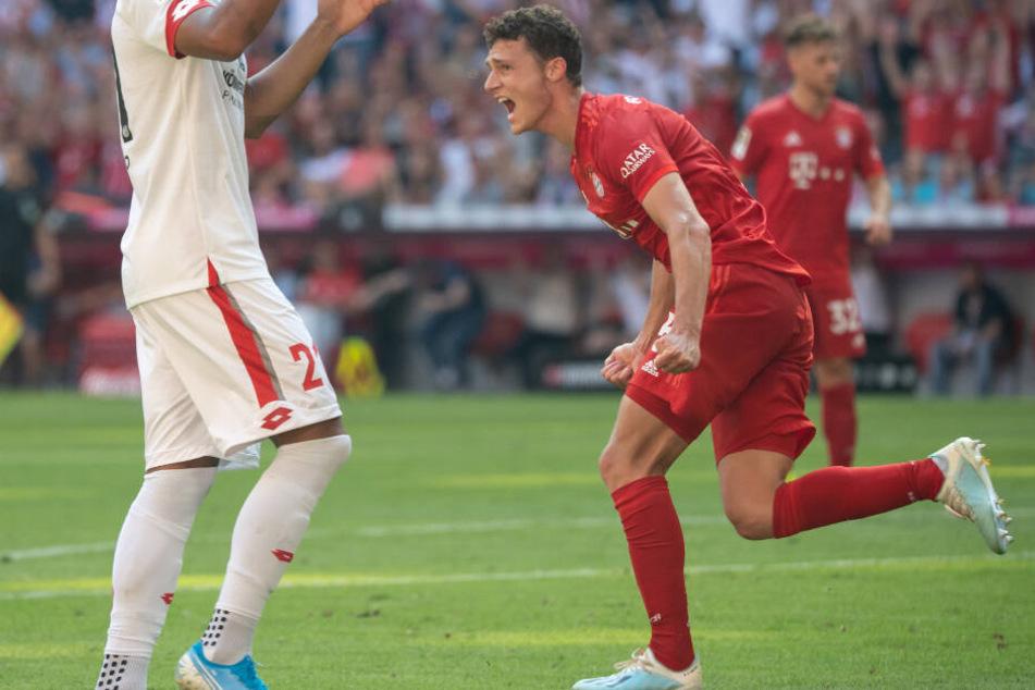 Benjamin Pavard erzielte in Halbzeit eins einen überaus sehenswerten Treffer.