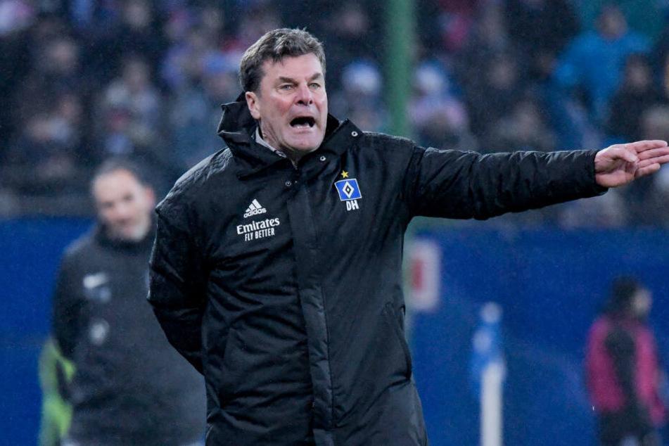HSV-Trainer Dieter Hecking bewahrt die Ruhe.