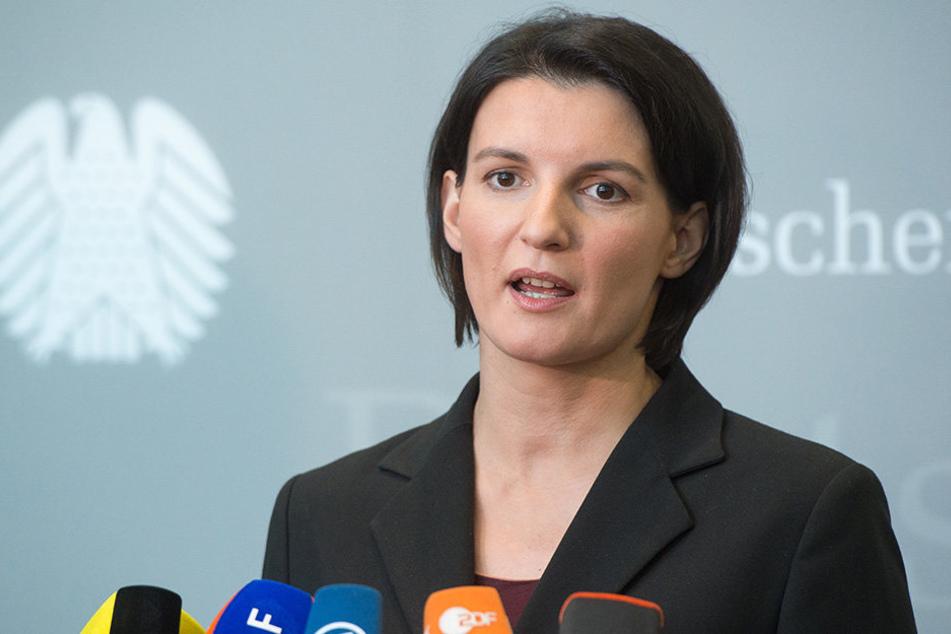 Sprecherin der Grünen im Bundestag, Irene Mihalic, rief zum Kampf gegen rechts auf.