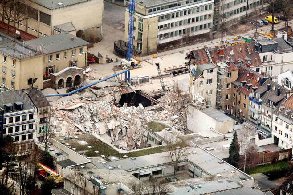 Das 2009 eingestürzte Kölner Stadtarchiv.