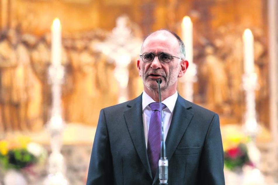 Seit 2012 ist Christian Behr (57) erster Pfarrer in der Kreuzkirche zu Dresden.