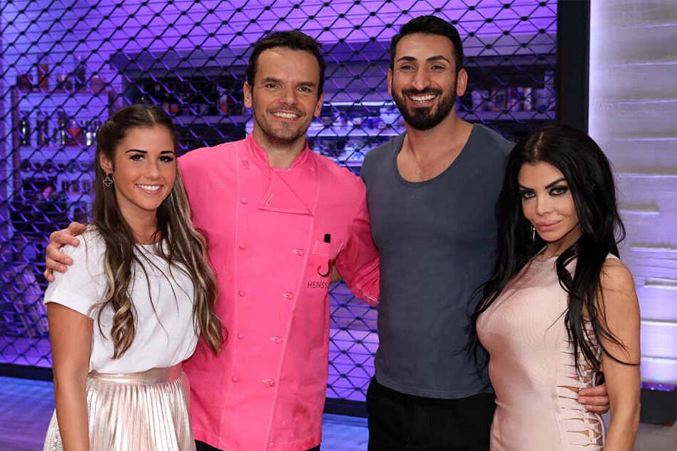 "Sarah Lombardi, Steffen Henssler, Mustafa Alin und Kader Loth kochen am Sonntagabend bei ""Grill den Henssler""."