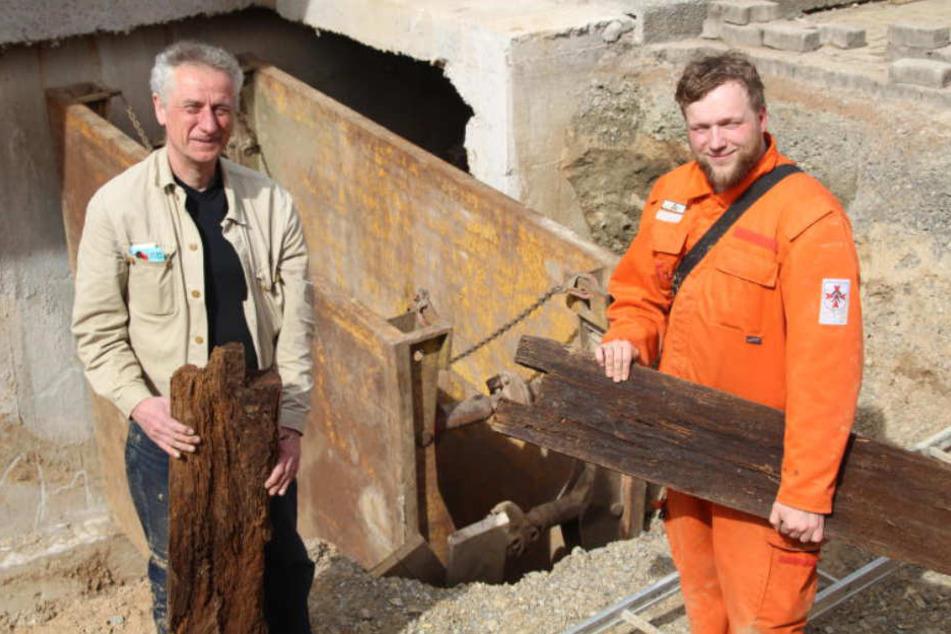Bei Ausschachtungen sind Bauarbeiter auf den geheimen Gang gestoßen.