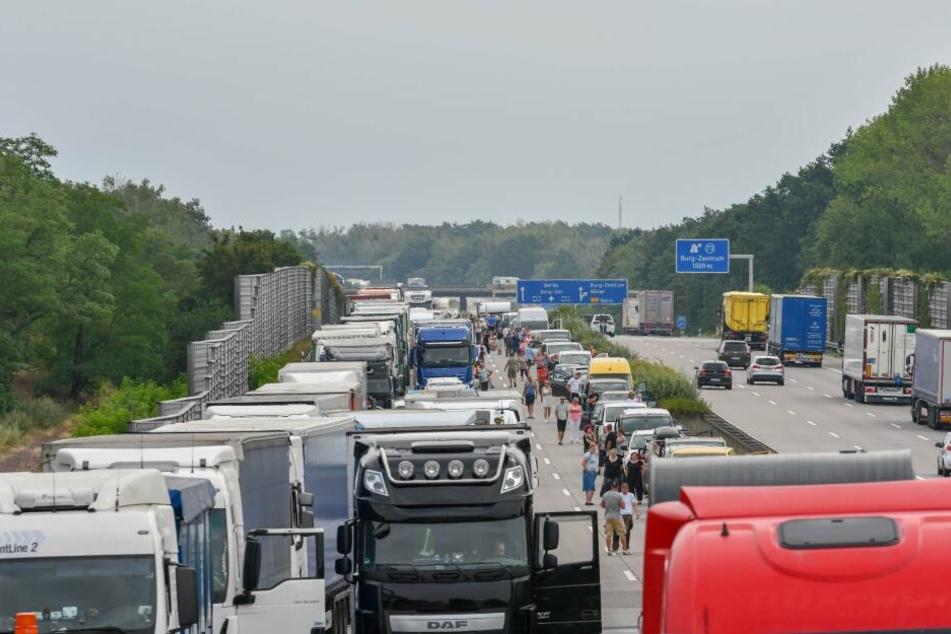 Die A2 in Richtung Hannover musste voll gesperrt werden.