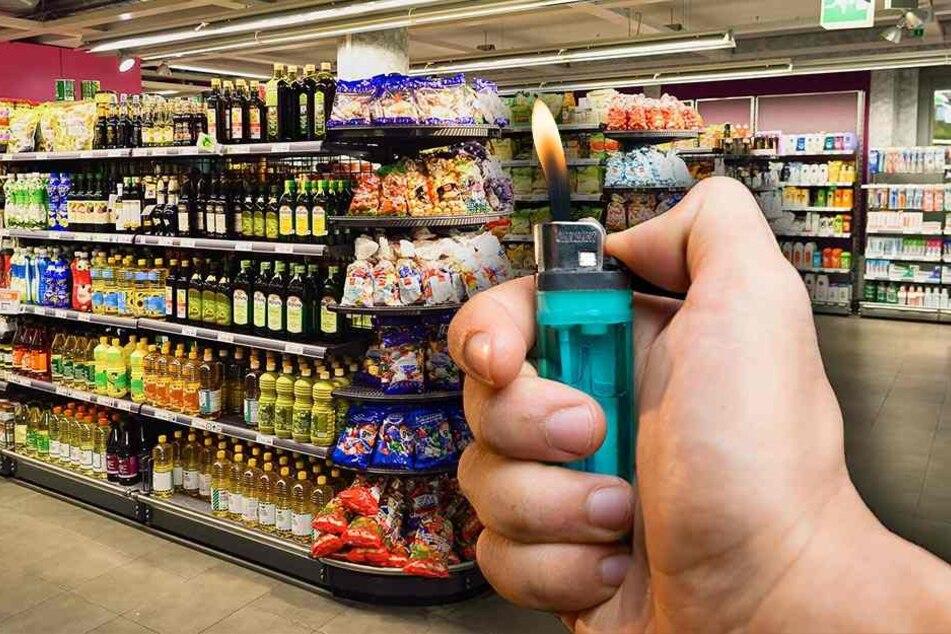 Ein Dieb wollte nach seinem Raubzug einen Supermarkt abfackeln.