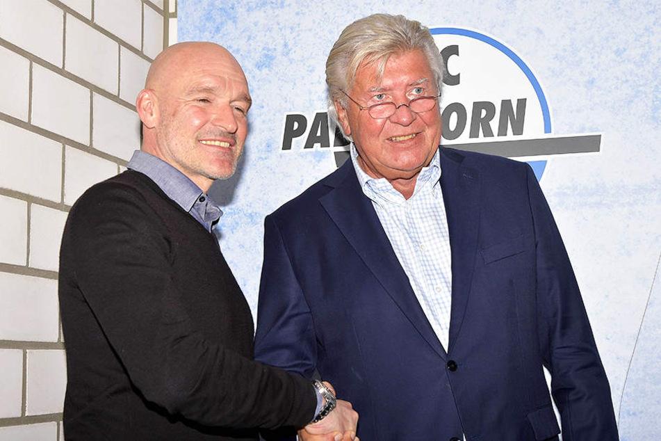 Stefan Emmerling (links) und Wilfried Finke beobachten die SCP-Spieler ganz genau. Wer schwächelt, fliegt!