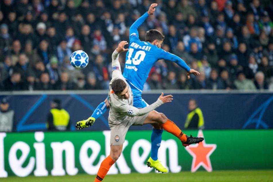 Jeder Kampf auch für TSG-Spieler Kevin Demirbay umsonst: Hoffenheim schied gegen Donezk aus der Königsklasse aus.