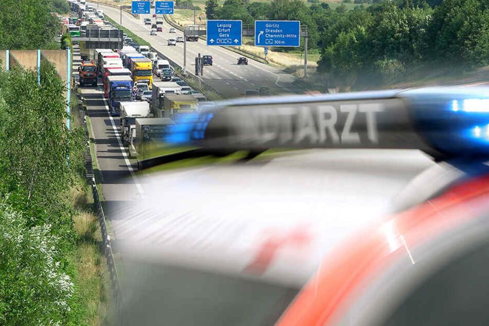 Auto rast in Leitplanke auf A72: 29-jähriger Fahrer stirbt