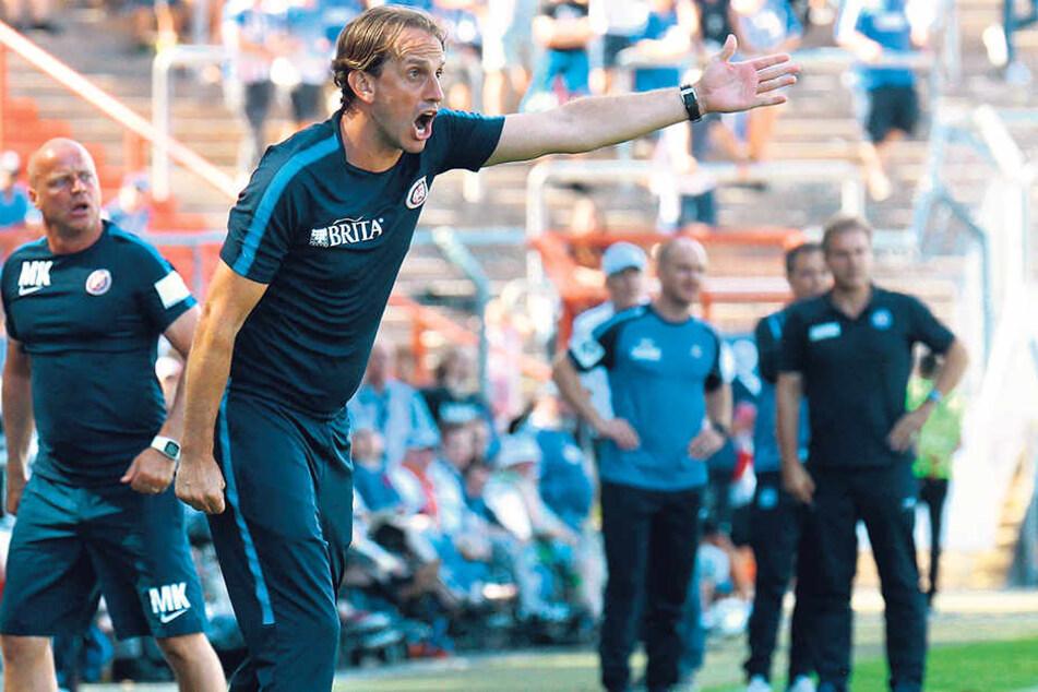 Mit Rüdiger Rehm geht es in Wiesbaden nach oben. Der SVW startete mit drei Siegen und einer Niederlage in die Saison.