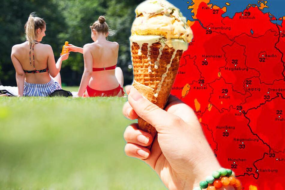 Zum Wochenende werden Temperaturen über 30 Grad erwartet.