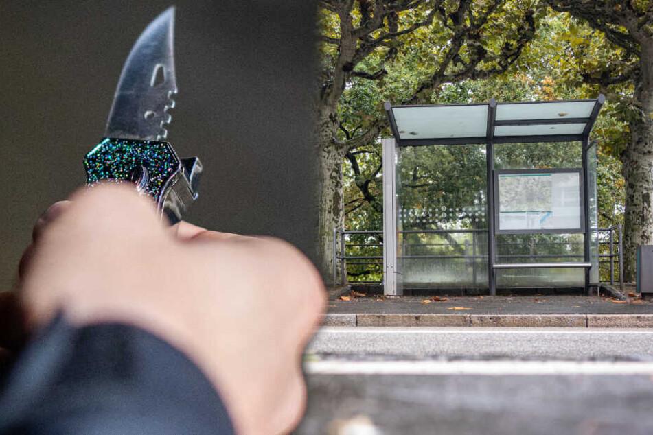 Betrunkener sticht an Bushaltestelle auf Tochter seiner Geliebten ein