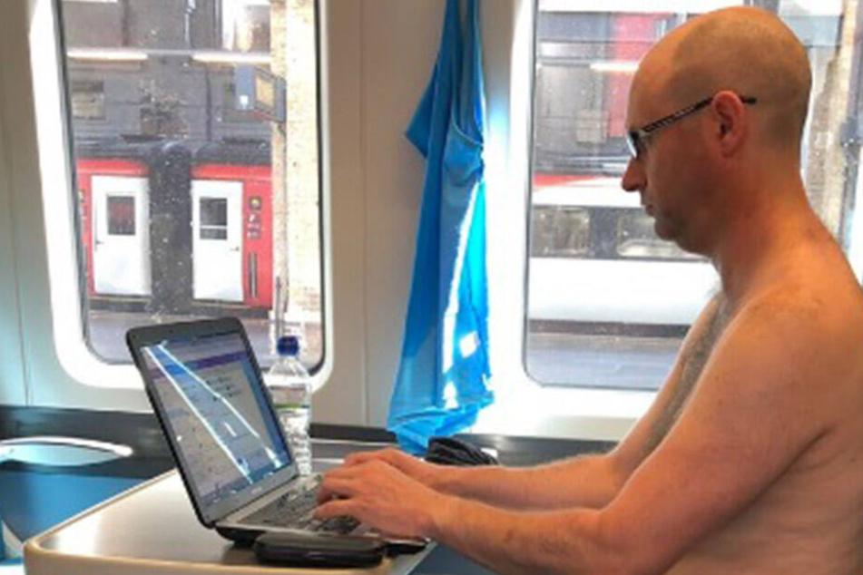 Bei dieser Affenhitze! Mann zieht sich im Zug aus, weil er schwitzt
