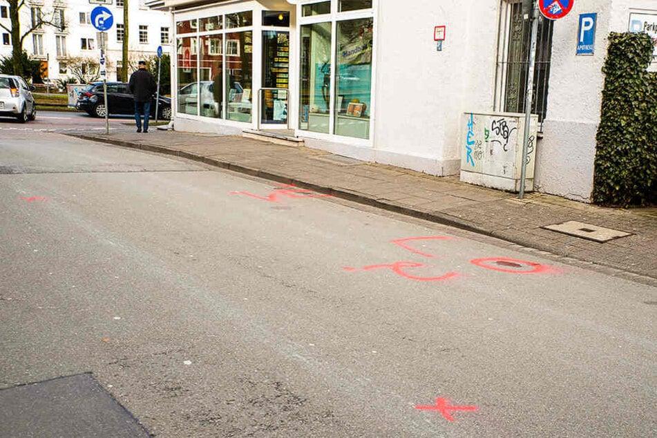 An der Rohrteichstraße wurden die beiden Richter angefahren.