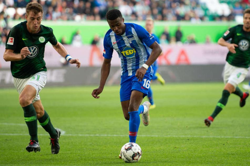 Javairo Dilrosun konnte im Hinspiel in Wolfsburg sein erstes Bundesligator erzielen.
