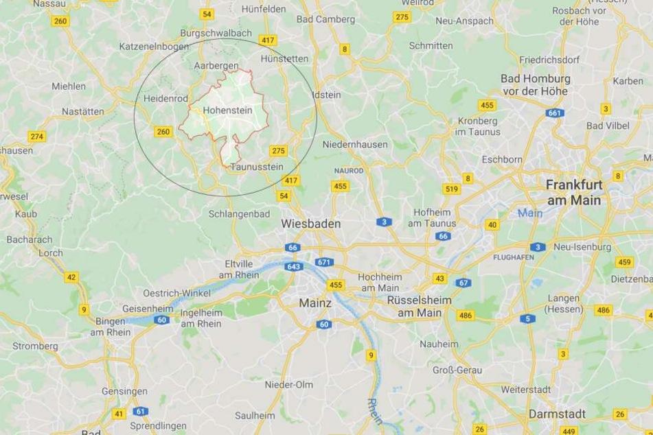 Hohenstein liegt im Nordwesten von Wiesbaden.