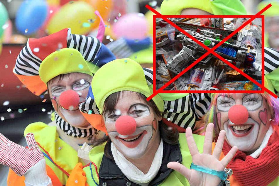 "Am Rosensonntag: ""Waffen""-Verbot beim Leipziger Karnevals-Umzug!"
