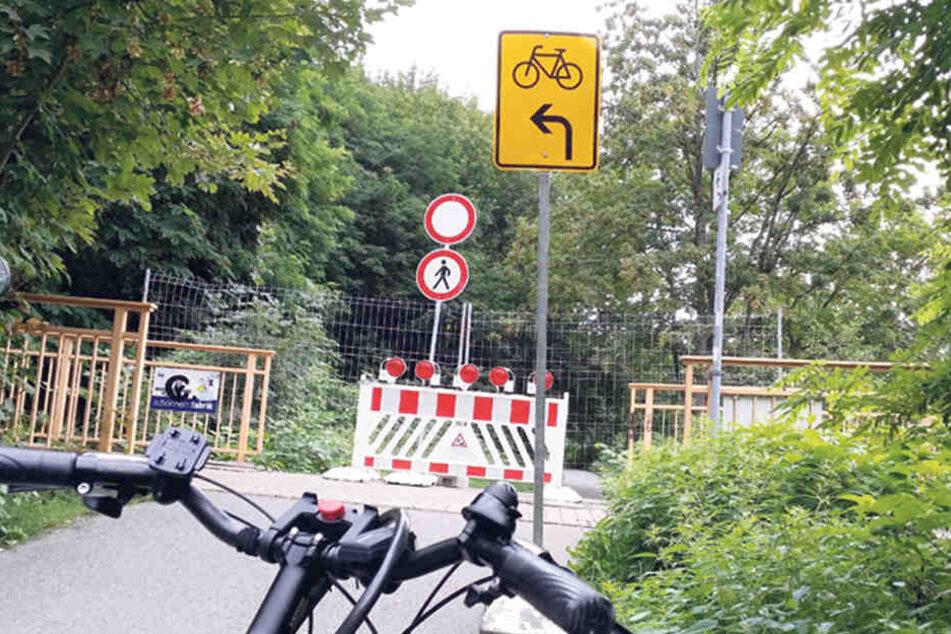 Der Chemnitztal-Radweg ist schon wieder gesperrt!