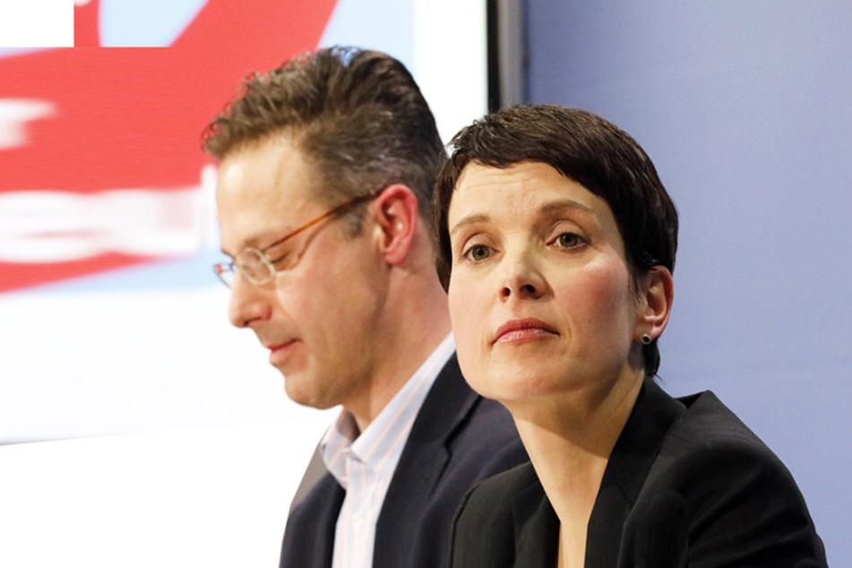 Markus Pretzell (43) und Frauke Petry (41) kritisieren die Höcke-Rede.