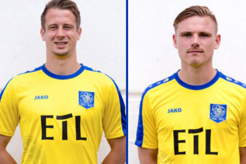 Martin Krug (28) und Robert Zickert (27) - Auf Facebook erlauben sich die beiden Lok-Spieler einen Scherz.