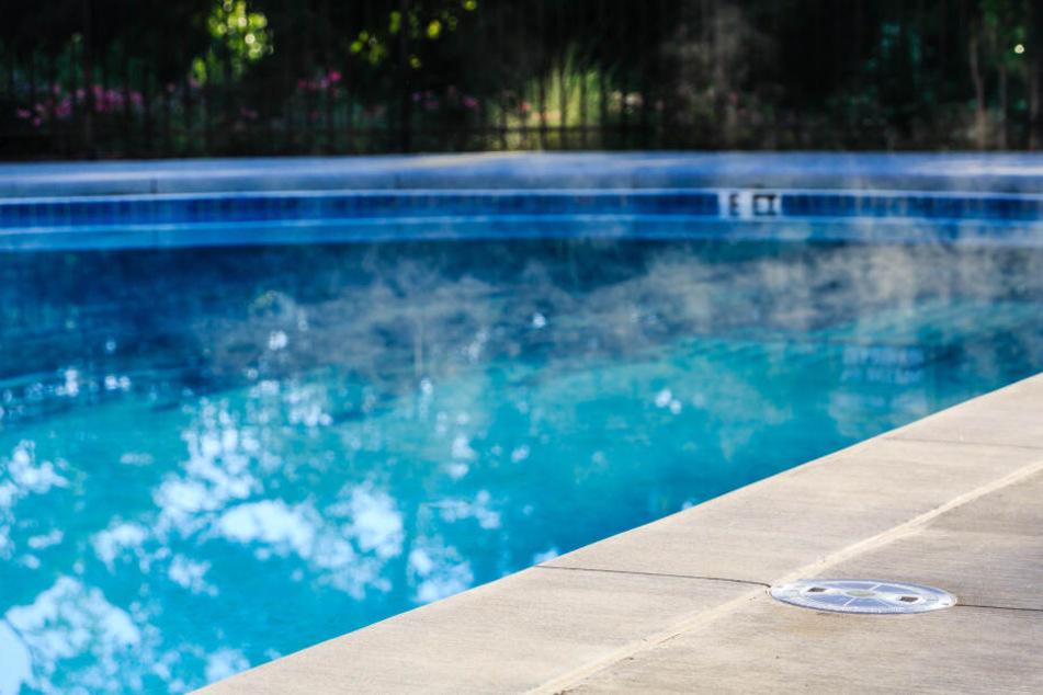 Ein Pool wurde dem Hund fast zur Todesfalle. (Symbolbild)