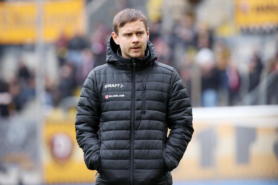 Glücklich sieht anders aus: Chris Löwe galt als Dynamos Königstransfer, konnte die Erwartungen bisher aber aus verschiedenen Gründen nicht erfüllen.