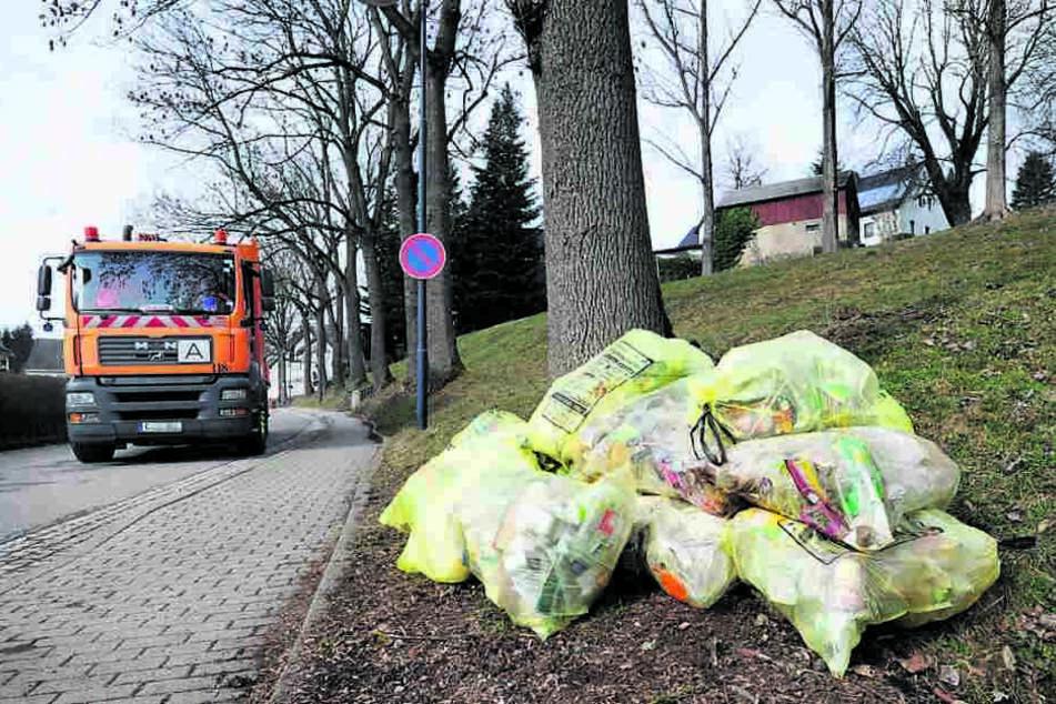 Auch in Kleinolbersdorf-A. wissen viele nicht mehr, wann die gelben Säcke abgeholt werden.