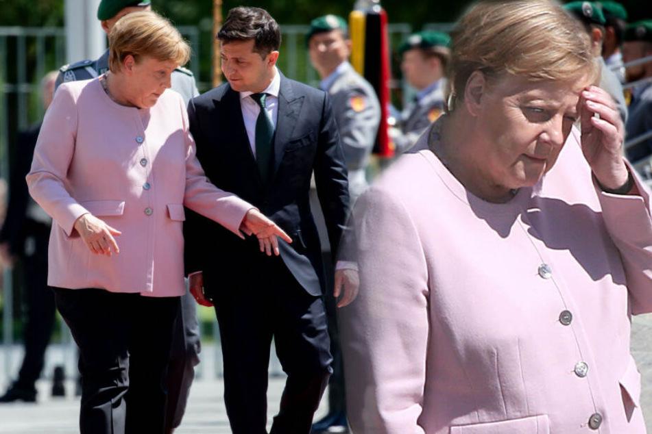 Große Sorge um Angela Merkel! Kanzlerin zittert bei Nationalhymne heftig