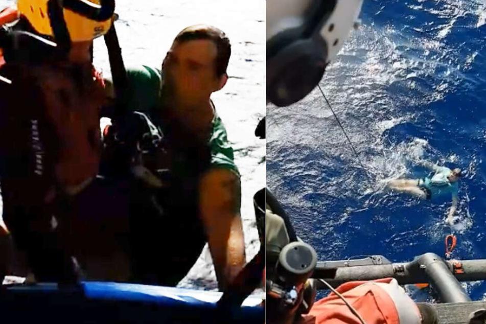 "Der ""Lowe Corporation Rescue Helicopter Service"" bei Arnes (30) Rettung im Meer."