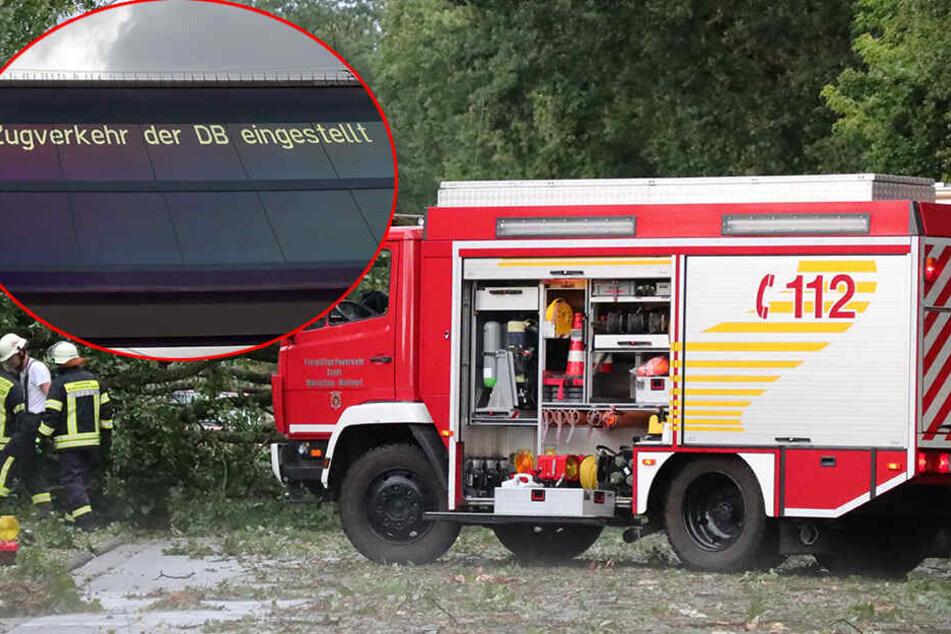 Gewitter und Unwetter legen Zugverkehr in Teilen Deutschlands lahm