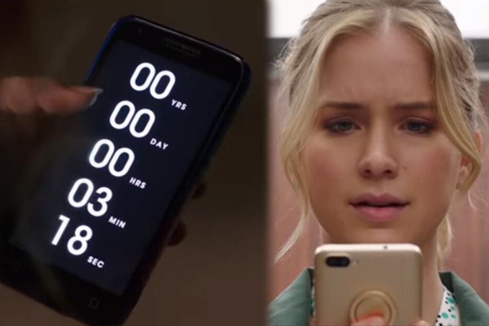 """In """"Countdown"""" kämpft die hübsche Protagonistin verzweifelt gegen die Zeit."""