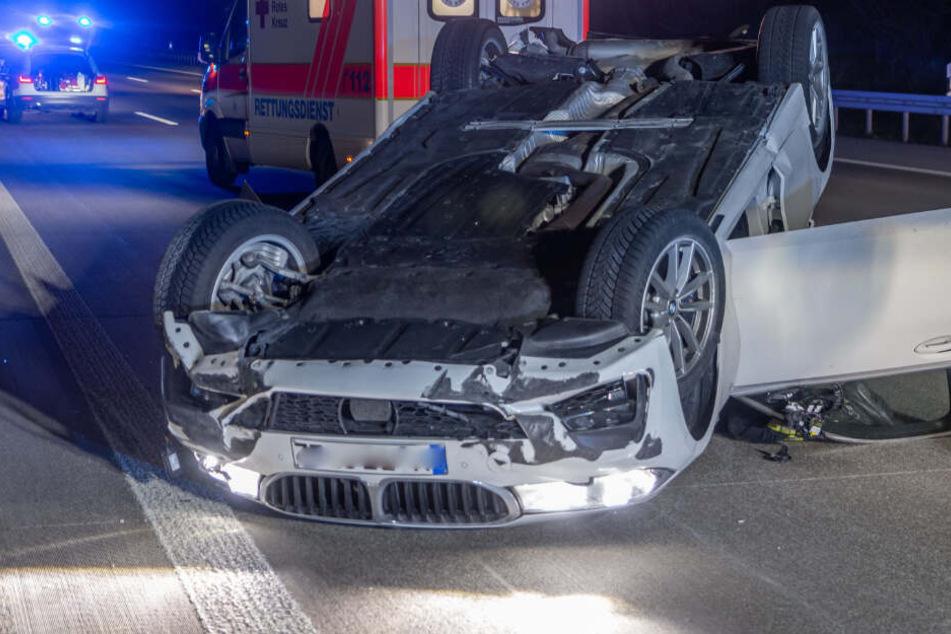 BMW-Fahrer überschlägt sich auf der A5