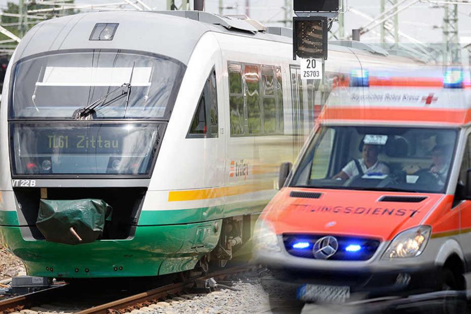 Mann wird von Zug überrollt: Tot!