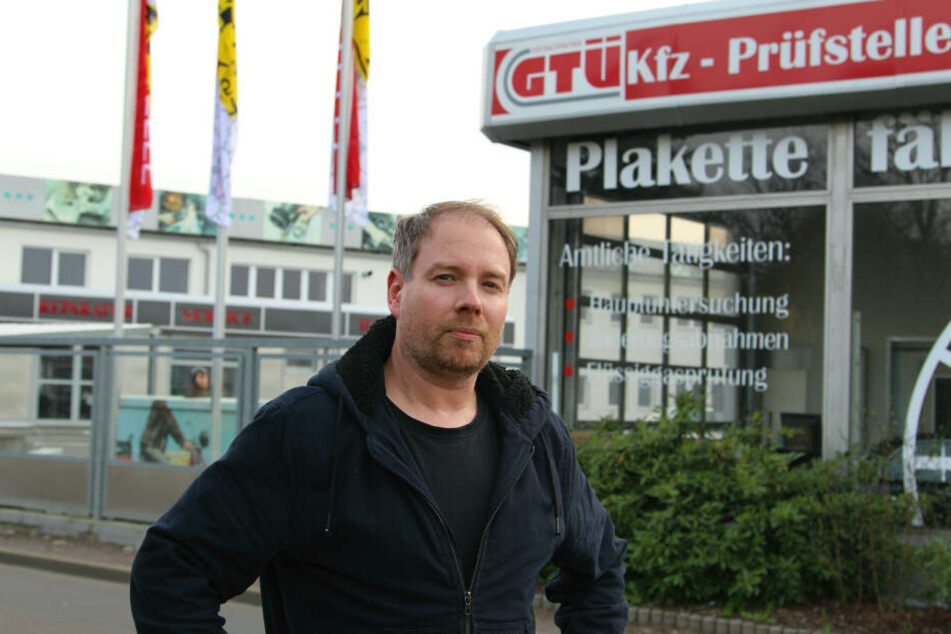 Christian Preissler (40) verklagt den Freistaat Sachsen, weil er den Verdacht hat, dass ein amtlich bestellter Prüfer der GTÜ ein Gefälligkeitsgutachten erstattete.
