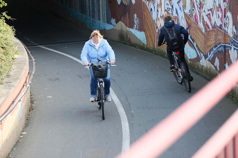 Abschüssiger Unfallschwerpunkt Bahnunterführung: Hier prallen immer wieder Radfahrer zusammen.