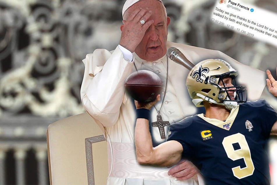 Papst Franziskus mit NFL-Tweet? Football-Team siegt mit göttlichem Beistand auf Twitter