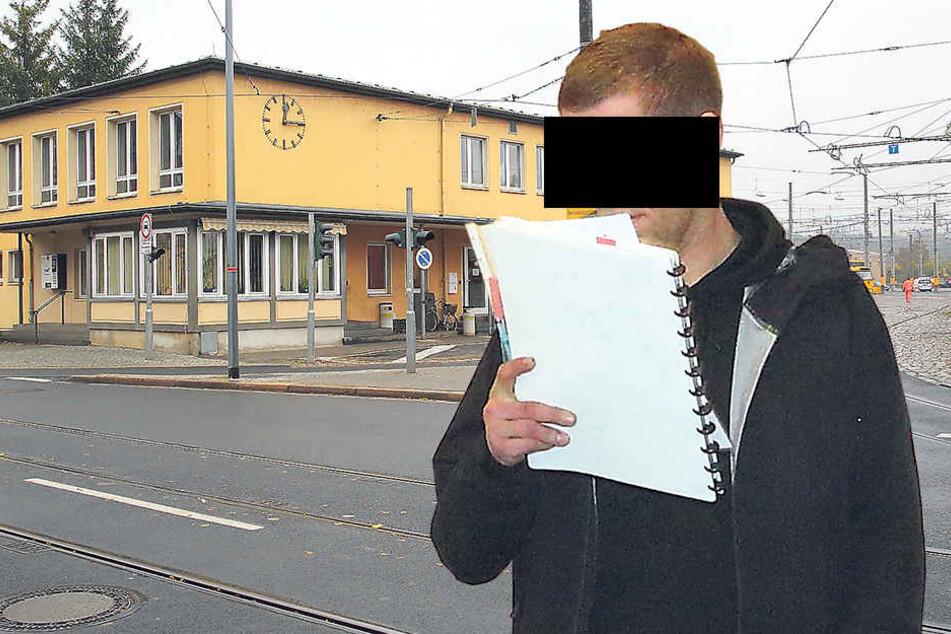 Im Betriebshof Trachenberge wurden Marco M. (32) und sein Kumpel den Mitarbeitern gegenüber ausfällig.