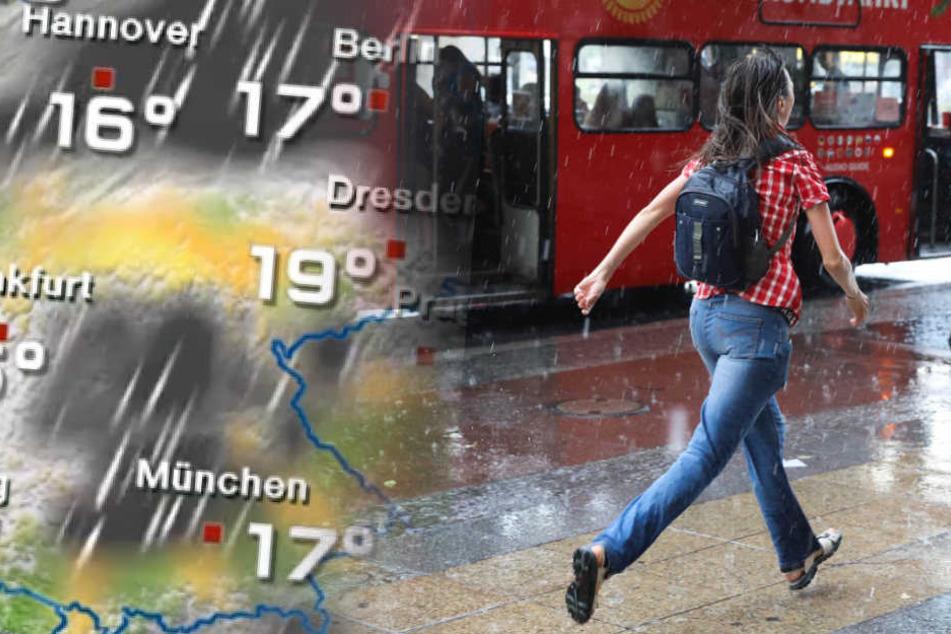 In den nächsten Tagen wird es auch in Berlin wieder regnen. (Symbolbild)