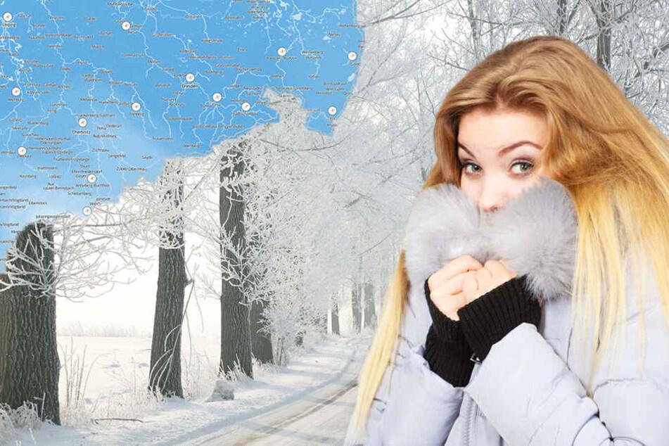Kältewalze rollt auf Sachsen zu: Schnee und Frost im Anmarsch!