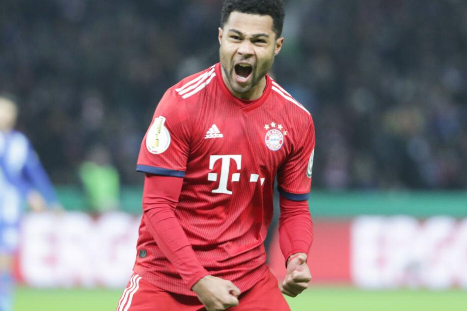 Serge Gnabry stand nicht nur in der Startelf des FC Bayern, sondern traf auch doppelt.